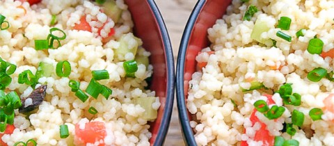 Mint and coriander cous cous