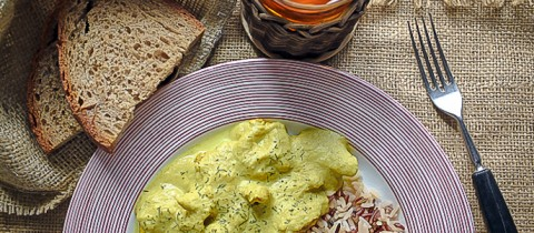 Madras curry turkey with wild rice