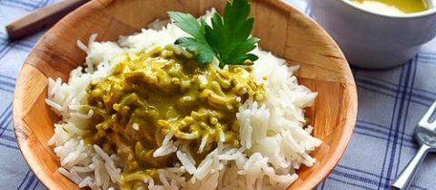Basmati rice with sharkayisa sauce