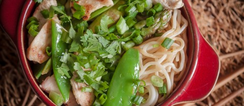 Japanese style chicken with somen noodles
